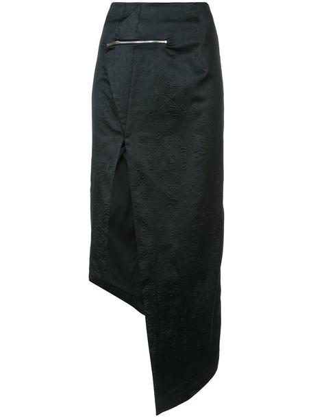 Thomas Wylde skirt women spandex black silk