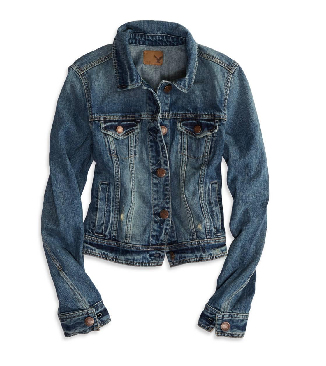 AE Faded Denim Jacket | American Eagle Outfitters - Faded Denim Jacket American Eagle Outfitters