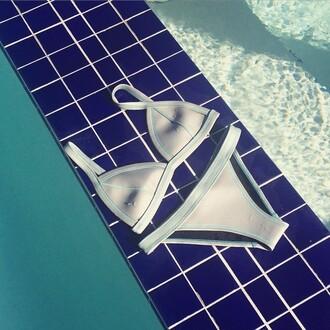swimwear skye & staghorn bikini neoprene metallic sexy swimwear neoprene bikini white swimwear light blue pool party