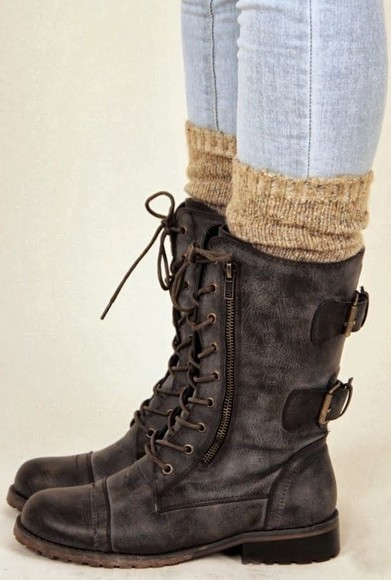 shoes brown shoes combatboots from pinterest