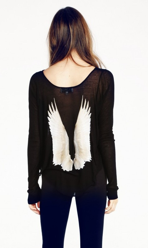 """cassidy's dream"" angel wings long sleeve top – glamzelle"