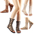 DOLLHOUSE ROMAN Women's Mid Calf Gladiator Flat Sandals