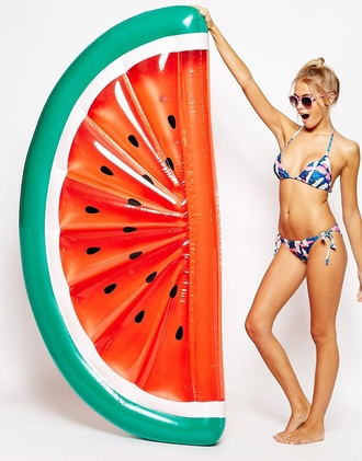 home accessory pool accessory pool float watermelon print