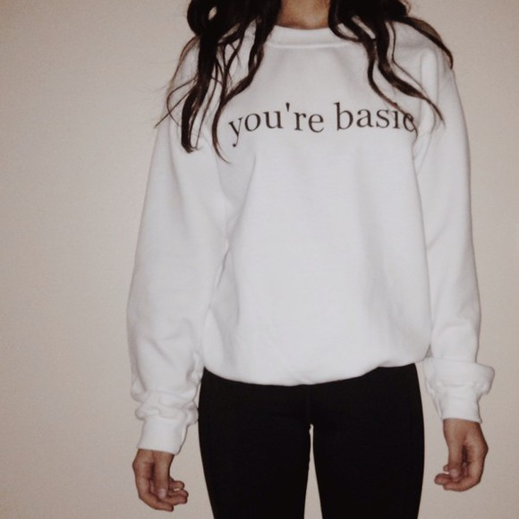 sweater crewneck top etsy basic lohanthony tumblr outfit style fashion youre basic like etsy bag bag pocket t shirt followforfollow sweater hoodie clothes brandy melville trending popular youre baskc ur basic acacia brinley pacsun clothes from tumblr basic top t-shirt shirt shoes shorts shortsshorts high waisted shorthigh waisted short short usa usa flag clothesclothes