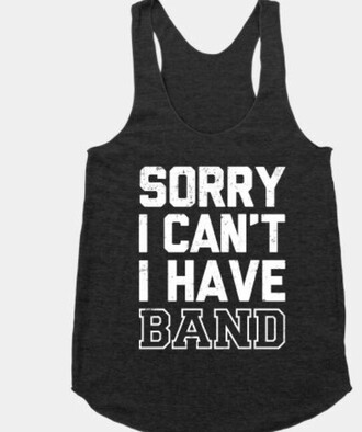 shirt quote on it band funny black tank top