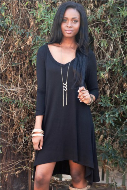 Black Loose Fitting Dresses Black Loose Fit Dress