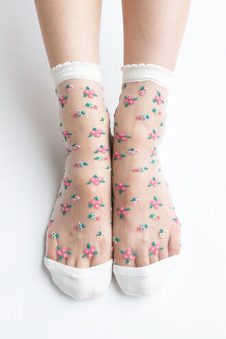 socks nylon nylon socks floral floral socks sheer socks sheer