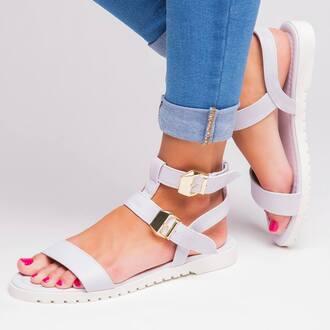 shoes sandals white white sandals
