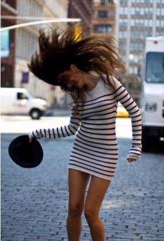 dress stripes striped dress black and white dress blouse shirt black white white dress knitwear knitted sweater