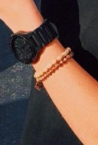 bag watch black watch big watch jewels