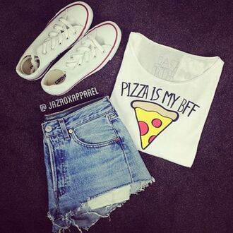 tank top pizza shirt pizza bff shirts food t shirt tank top summe summer fashion cool girly trendy summer outfits best friends top bff