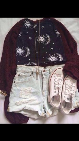 cardigan burgundy cardigan maroon cardigan sweater shorts romper shirt shoes jewels