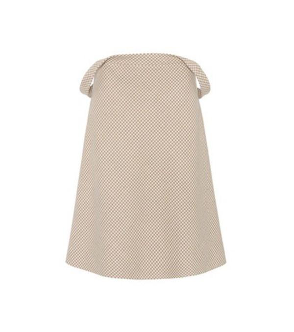 Balenciaga Wool-blend houndstooth skirt in black