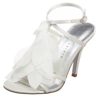 Amazon.com: Martinez Valero Women's Corrine T-Strap Sandal, Ivory Satin, 10 M US: Shoes