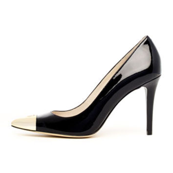 MICHAEL Michael Kors Paxton Pointed Cap-Toe Pump on Wanelo