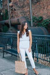 blogger,pumps&pushups,top,tank top,skirt,pants,bag