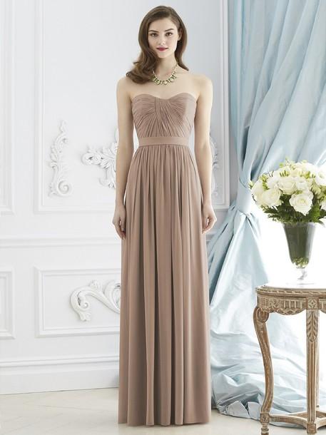 dress elegant prom dress beige dress