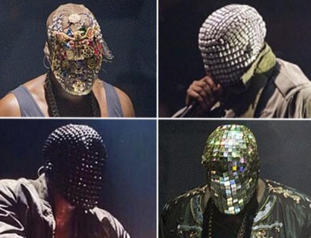 Jewels Kanye West Mask Spiked Headband Spikes Wheretoget