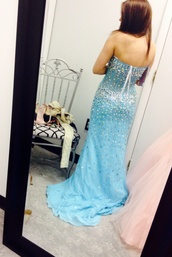 dress,jovani aqua blue sparkles prom dress