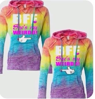 sweater rainbow bff sweatshirt fashion style friends