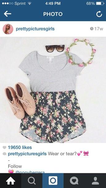 shorts flower shorts