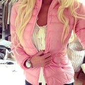 coat,pink,jacket,quilted