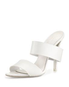 Alexander Wang Masha Double-Strap Slide Sandal, Peroxide