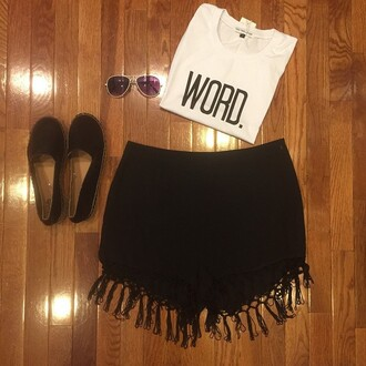 tank top divergence clothing boho fringe shorts cro ptop crop tops fringe shorts boho chic streetstyle tumblr clothes printed crop top crop tank black shorts black sunglasses fringe short