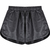 Black Snakeskin Print PU Leather Shorts - Sheinside.com