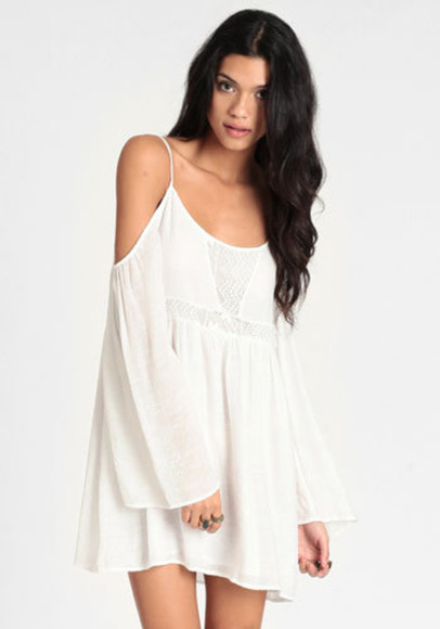 dress mini white off the shoulder
