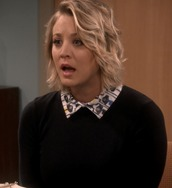 sweater,penny,black,big bang theory,kaley cuoco