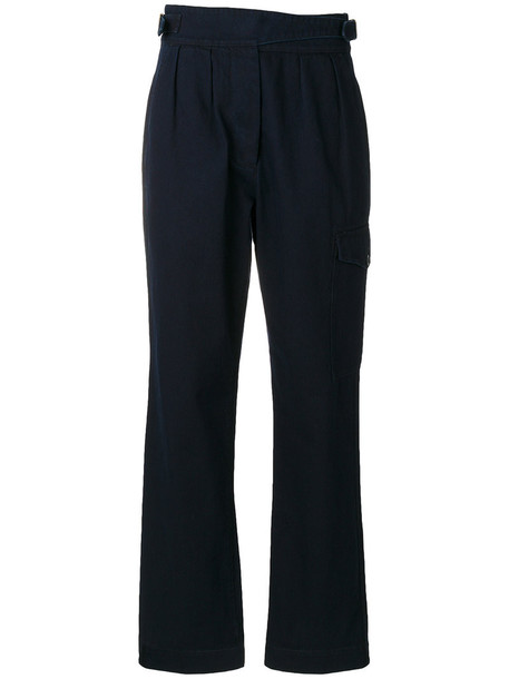 Margaret Howell high women cotton blue pants