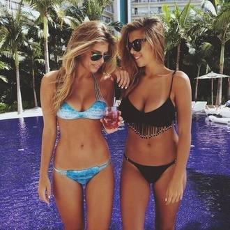 underwear bikini blue swimwear blue black bikini black black swimwear blue bikini