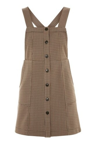 dress pinafore dress brown