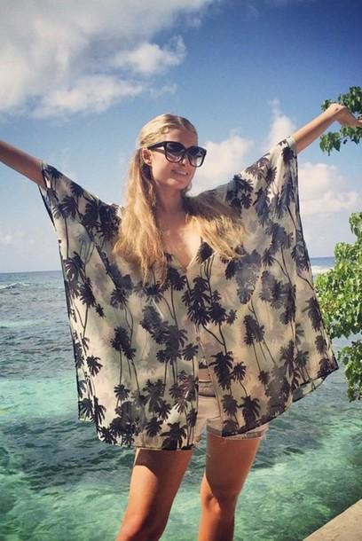 blouse top summer summer outfits paris hilton