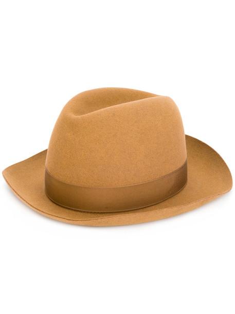 Borsalino women classic hat wool brown