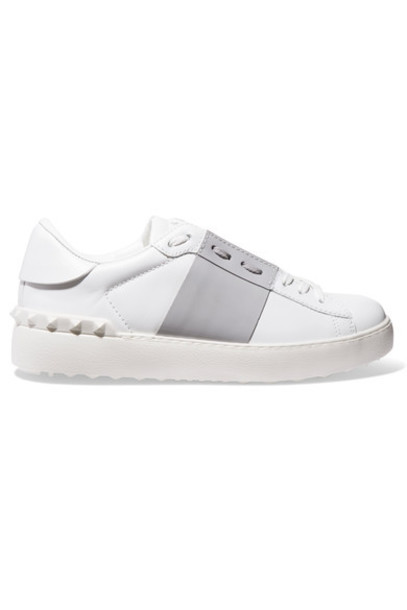 Valentino sneakers leather white shoes