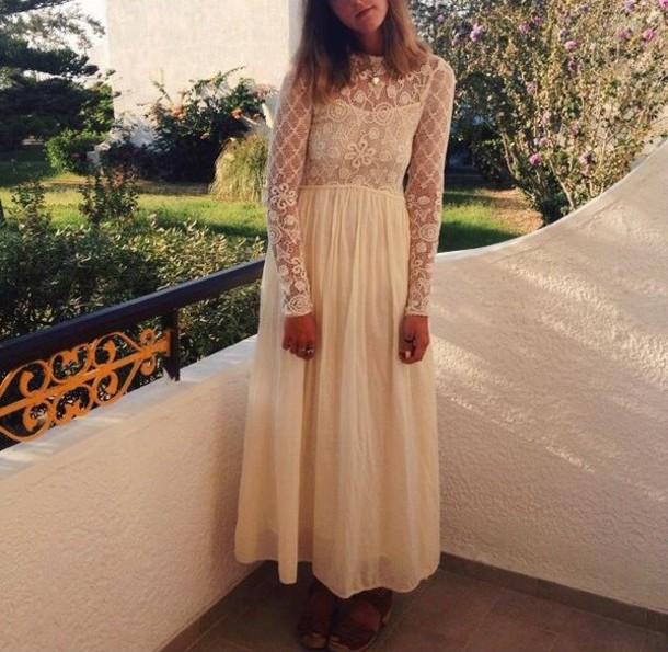 dress dress\ crochet dress prom dress creme crochet creme dress
