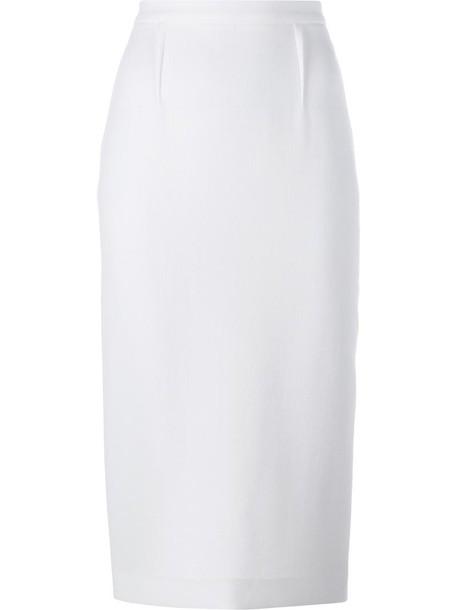 Roland Mouret skirt pencil skirt women white wool
