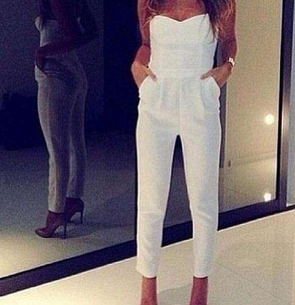 Sexy strapless jumpsuit / wantde
