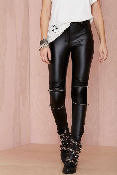 pants leather pants