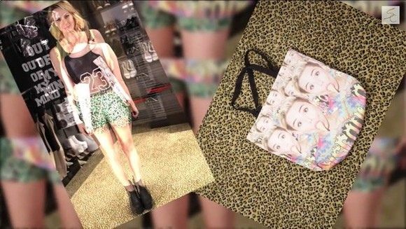 bag tote bag miley cyrus bangerz white tongue lady gaga pop popular