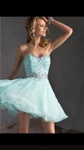 dress,homecoming dress,homecoming,love  beautiful,prom dress,cute dress,blue dress,mint short homecoming dress