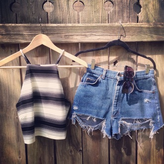 shirt striped top crop tops style stripes cool top
