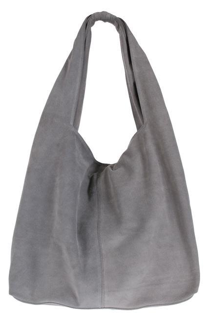 Jj winters hobo suede bag in grey