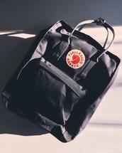 bag,black,backpack,fjallraven kanken,black backpack