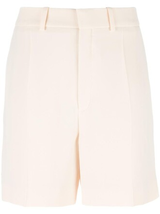 shorts embroidered women nude silk