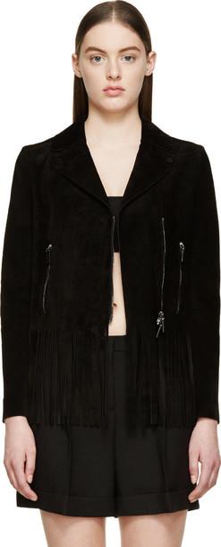 Valentino jacket biker jacket suede black