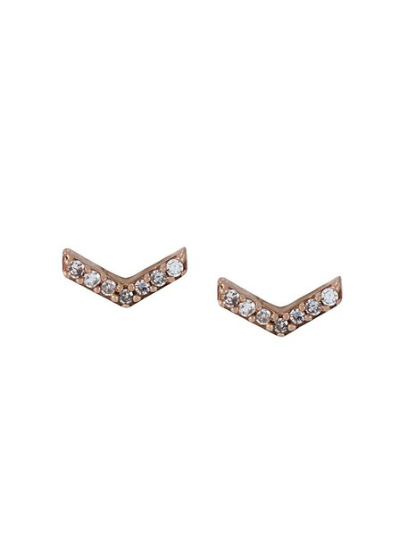 Astley Clarke rose gold rose women earrings stud earrings gold grey metallic jewels