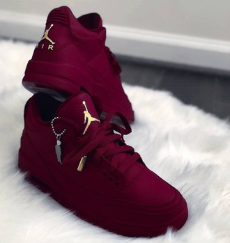 shoes jordans nike nike air burgundy gold velvet